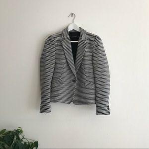 Zara black and white patterned blazer